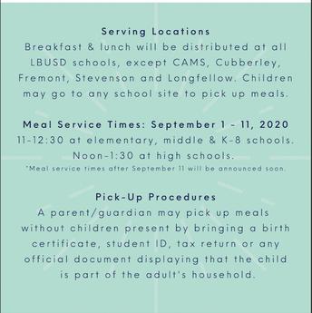 وجبات مجانية لجميع الأطفال من سن 1-18