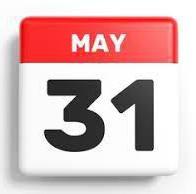 No school May 31st!