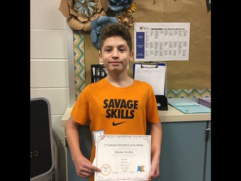 Nikolas Verdini--7th Grade
