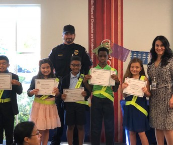 Safety Patrol Pinning Ceremony