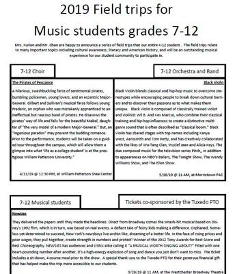 Music Field Trips 7-12