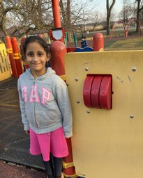 Ms. Timocko's Kindergarten Student, Jena Alrabeei, Plays With Words at the Park!
