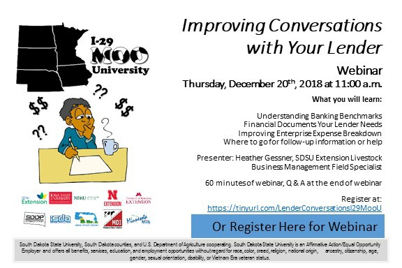 Registration Link for Webinar-Improving Conversations with Your Lender