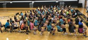 An impressive crowd of MHS students gather for PALS leadership training