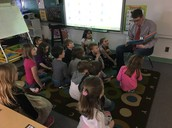 One of our Literacy Week guest readers...Mr. Humbke.