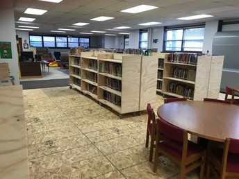 The Northside of the library has a new subfloor