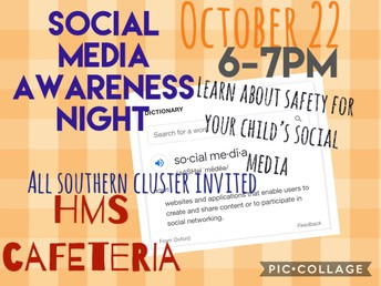 October 22, 2019 (Tuesday) Social Media Awareness Night!