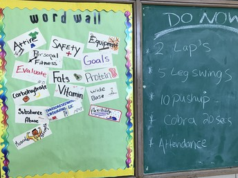 Word Wall and Routines