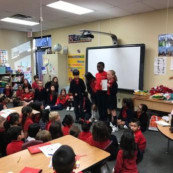 Sharing their writing