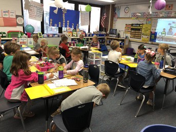 First Graders Getting Right down to Morning Work!