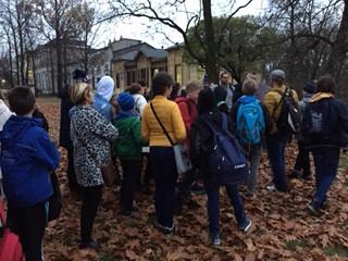 The walking tour of Lodz