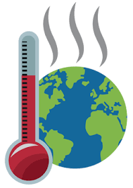 thermometer and steaming earth clipart