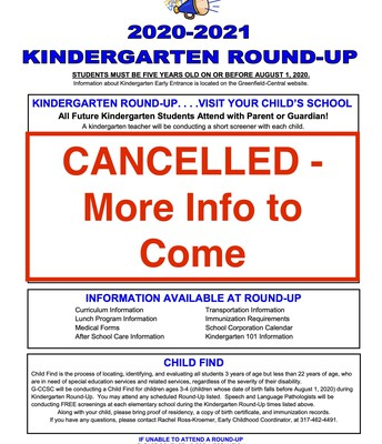 CANCELLED Round-Up