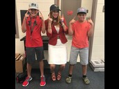 These 8th graders LOVE hat day!