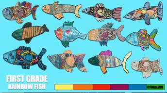 Rainbow Fish Drawing