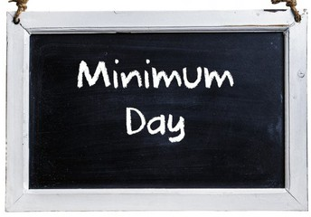 Minimum Day On Thursday!
