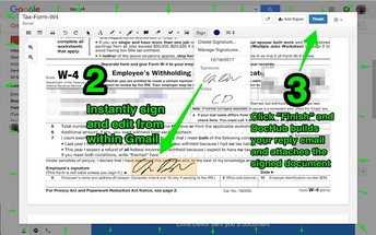 Sign documents and print and or email documents