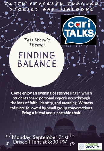 Cari-talks: Faith revealed through student stories and dialogue