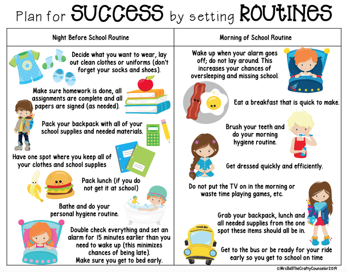 Routines to support attendance
