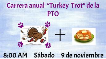 La carrera del Turkey Trot y el desayuno de panqueques de los K-Kids el 9 de noviembre