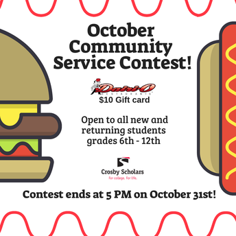 October Community Service Contest!