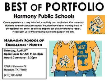 JOIN US FOR HARMONY'S ART PORTFOLIO EVENT – APRIL 27TH