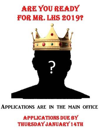 Mr. LHS Application Deadline