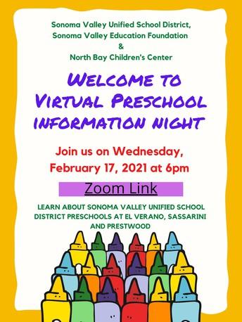 Virtual Preschool Information Night