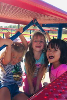 Students in Mrs. Yarbro's class are having fun on recess!