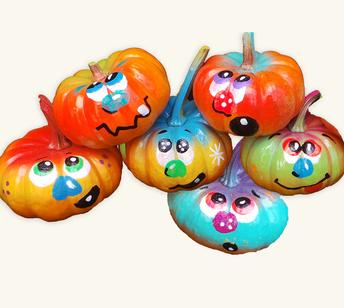 Painted mini pumpkins