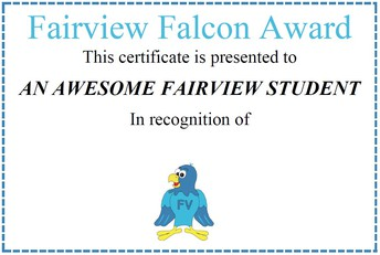 FAIRVIEW FALCON AWARD WINNERS