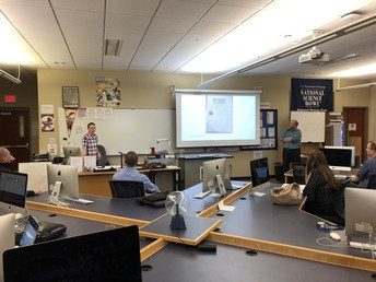 Students in UHS Hyperstream share learning on cyber defense