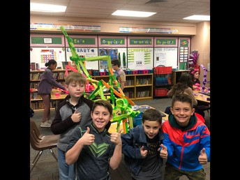 Mrs. Freeman's T.E. Group STEM Project  Written by Ella N., Aiden K. and Ben D.
