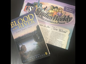 5th Graders Reading Blood on the River