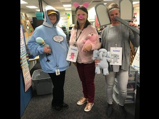 DeKeyser Staff dressed up for Character Day!
