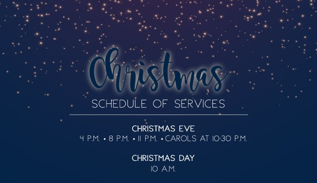 Click for more details on our Christmas Services!
