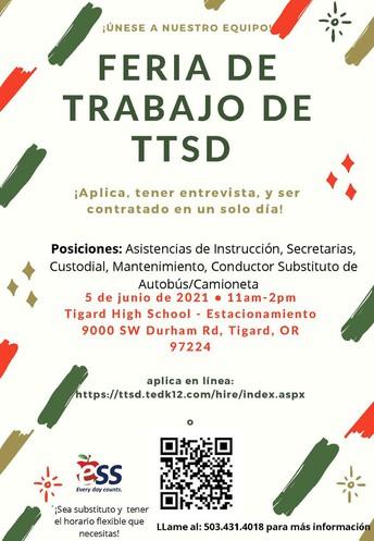 Feria de Trabajo de TTSD