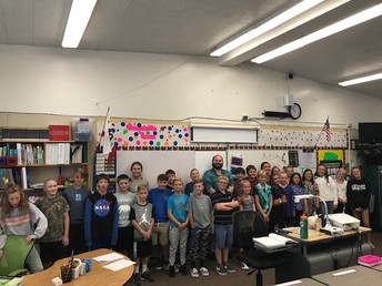Mr. Beilby and our 6th graders!
