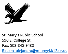 St. Mary's Public School Contact