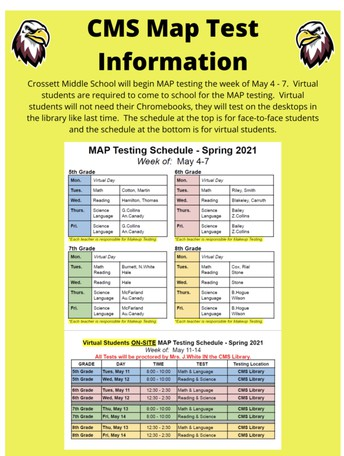 MAP Testing Information and Schedule