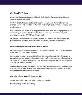 Choir September Newsletter (Page 2)