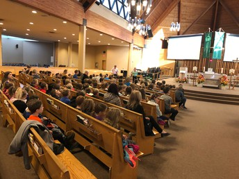 Celebrating with our school community - Fall Mass at OLPH Church