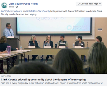 Clark County Public Health and others share article from KATU news covering the event.