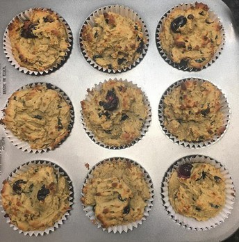 Vanilla Blueberry Muffins