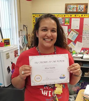 Teacher of the Month - Mrs. Tejeda