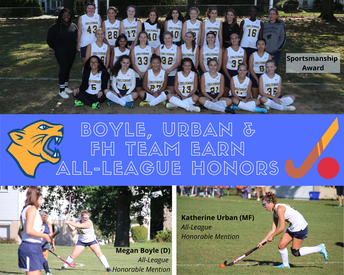 Field Hockey Claims Two All-League Honorable Mentions, Team Award