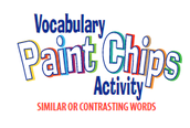 Paint Chip Vocabulary`