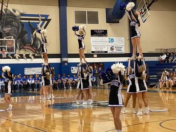Cheerleaders Build the Spirit