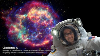 Mustafa saw Suzanne Slade & went into outer space?!? WOW!