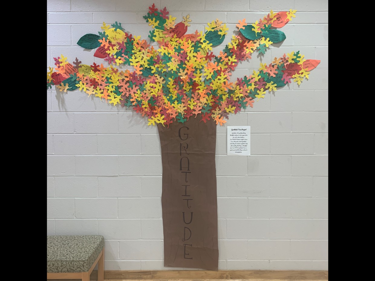 picture of gratitude tree and leaves